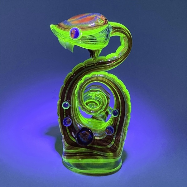 Glass Cobra by Niko and Cowboy - Glowing from Blacklight