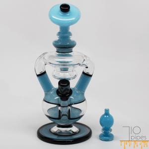 Light Blue Heady Glass Dab Rig by Denver Artist Coojo Glass