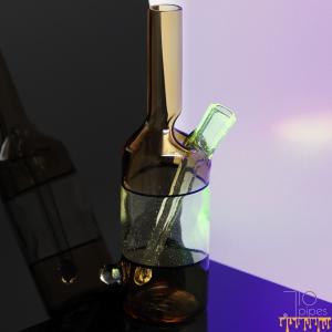 Glass Mechanic Bi-Color UV Sake Bottle