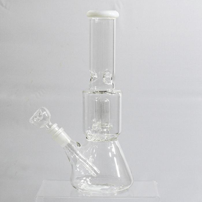 Transparent single percolator water pipe