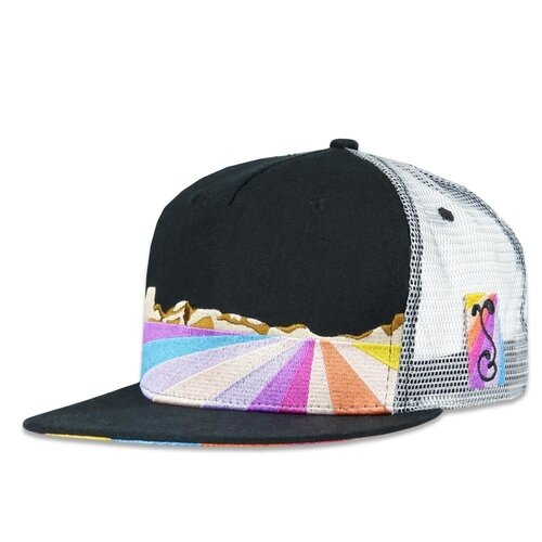 Grassroots' Jerry Garcia Playa Vista Mesh Snapback Hat (Front View)